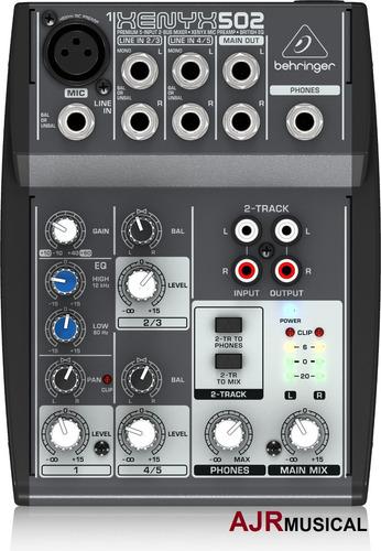 mesa de som 502 xenyx behringer mixer