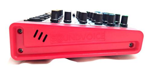 mesa de som 6 canais bluetooth phantom mc6 plus soundvoice