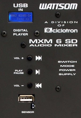 mesa de som 6 canais c/usb wattsom / ciclotron . mxm 6 sd