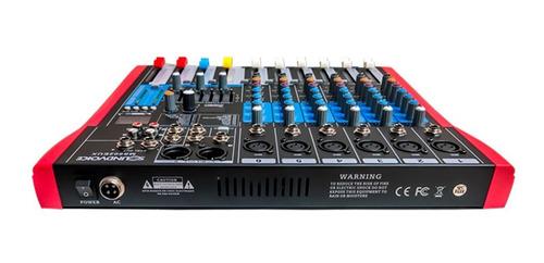 mesa de som 6 canais ms-602 eux soundvoice grava direto usb