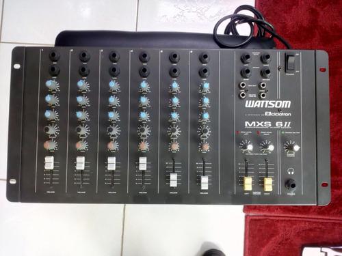 mesa de som 6 canais wattsom mxs6 ii