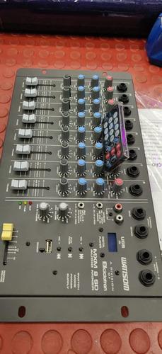 mesa de som 8 canais com usb/pendriver  wattsom  mxm 8 sd