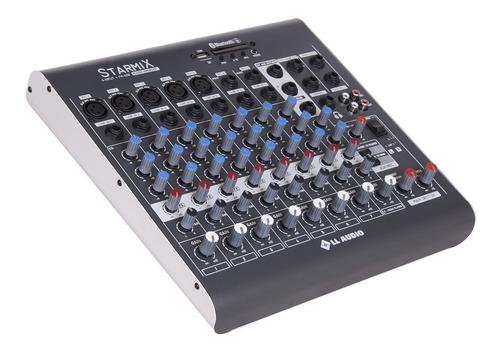 mesa de som 8 canais usb bluetooth fm xms802 canais balanceados saída de fone ouvido nca full
