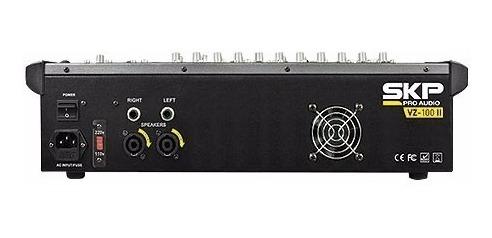 mesa de som amplificada 10 canais 500w com mp3, entrada usb