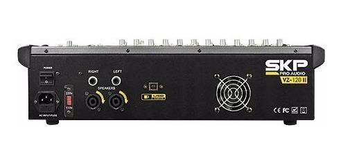 mesa de som amplificada 12 canais 500w com mp3, entrada usb