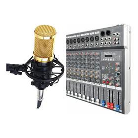 Mesa De Som Amw Com Microfone Condensador