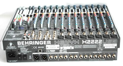 mesa de som analogica behringer xenyx x2222usb