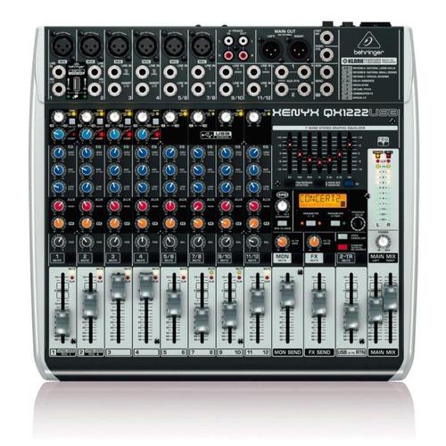 mesa de som behringer qx1222usb de 8 canais c/ efeitos