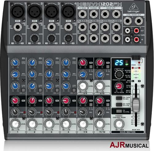 mesa de som behringer xenyx 1202fx com efeitos - envio 24hs