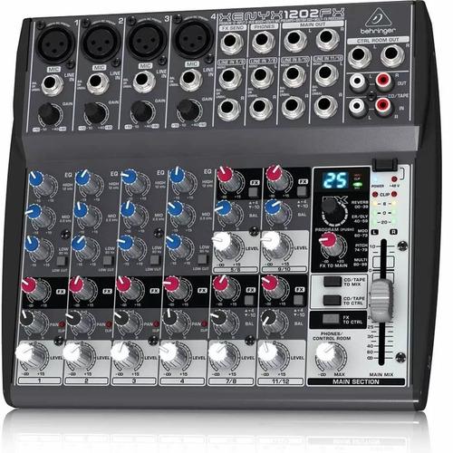 mesa de som behringer xenyx 1202fx mixer-220v