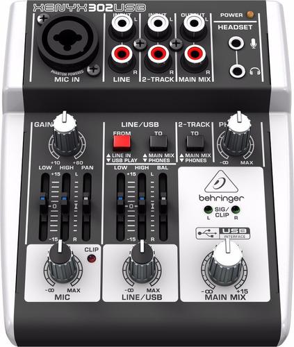 mesa de som behringer xenyx 302 usb 302usb interface áudio