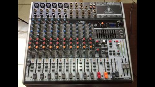 mesa de som behringer xenyx x1832usb - semi nova com case