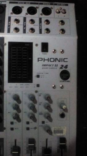 mesa de som de 24 canais phonic