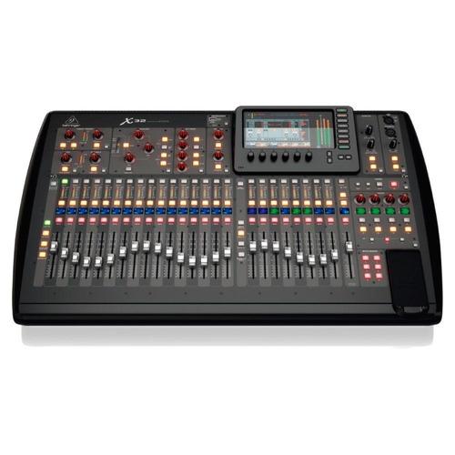 mesa de som digital behringer x32 c/ 40 canais 16 aux 25-bus