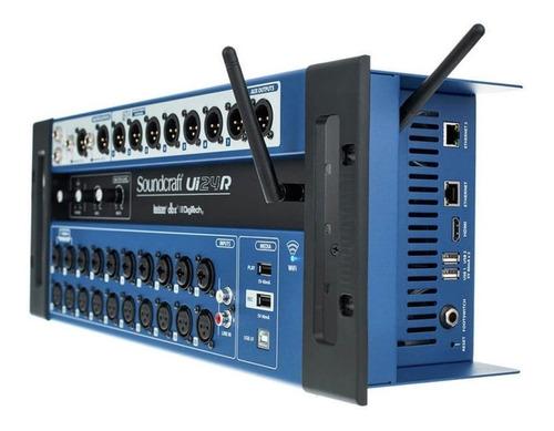 mesa de som digital soundcraft ui24 multipista