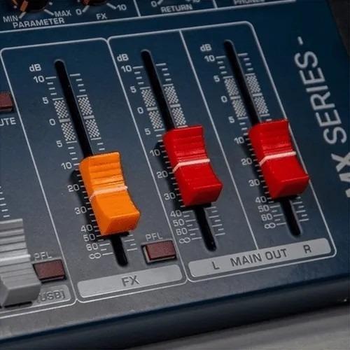 mesa de som interface 16 canais lexsen lmx16usb bluetooth nf