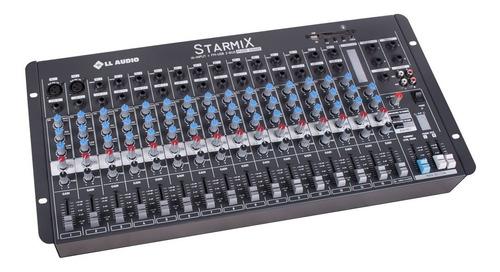 mesa de som lláudio starmix s1602dbt com bluetooth 16 canais