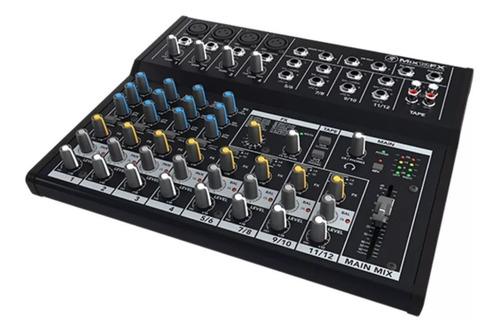 mesa de som mackie mix12 fx 12 canais com efeitos dsp