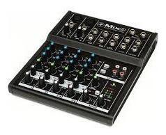 mesa de som mix8 mackie 120v 8 canais