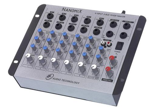mesa de som mixer nanomix na602r - 6 canais- ll audio