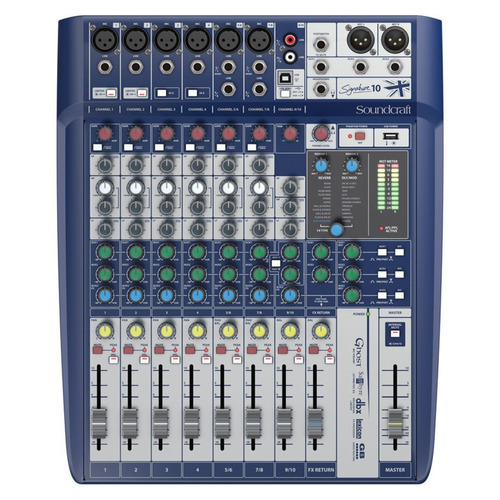 mesa de som mixer soundcraft signature 10