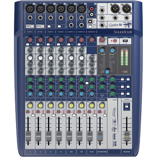 mesa de som mixer soundcraft signature 10 canais original