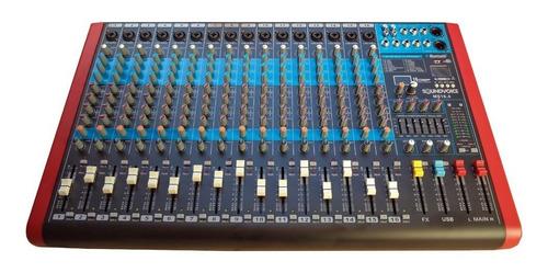 mesa de som ms164 16 canais usb bt soundvoice