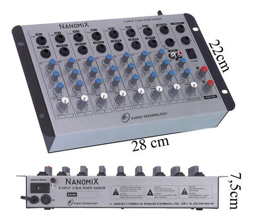 mesa de som nanomix 8 canais stereo na802r nca full