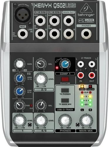 mesa de som q502usb xenyx behringer mixer q502 usb