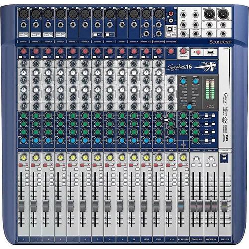 mesa de som soundcraft signature 16