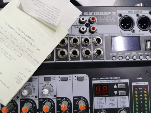 mesa de som soundcraft sx1202fx 12 canais usb garantia !
