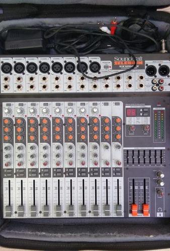 mesa de som sx1202fx soundcraft selenium