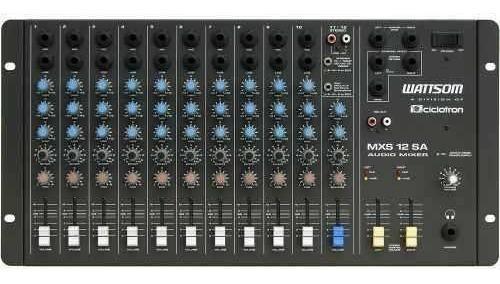 mesa de som wattsom 12 canais stereo mxs-12sa
