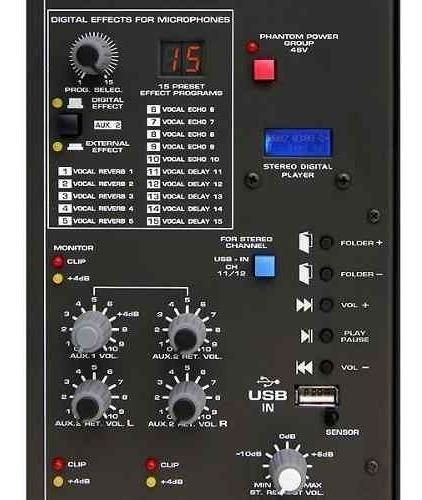 mesa de som wattsom 12 canais usb c/ efeitos ambw-12xdf