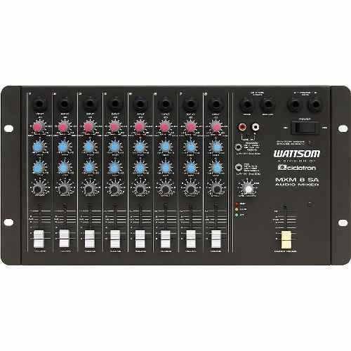 mesa de som wattsom 8 canais mono mxm-8sa