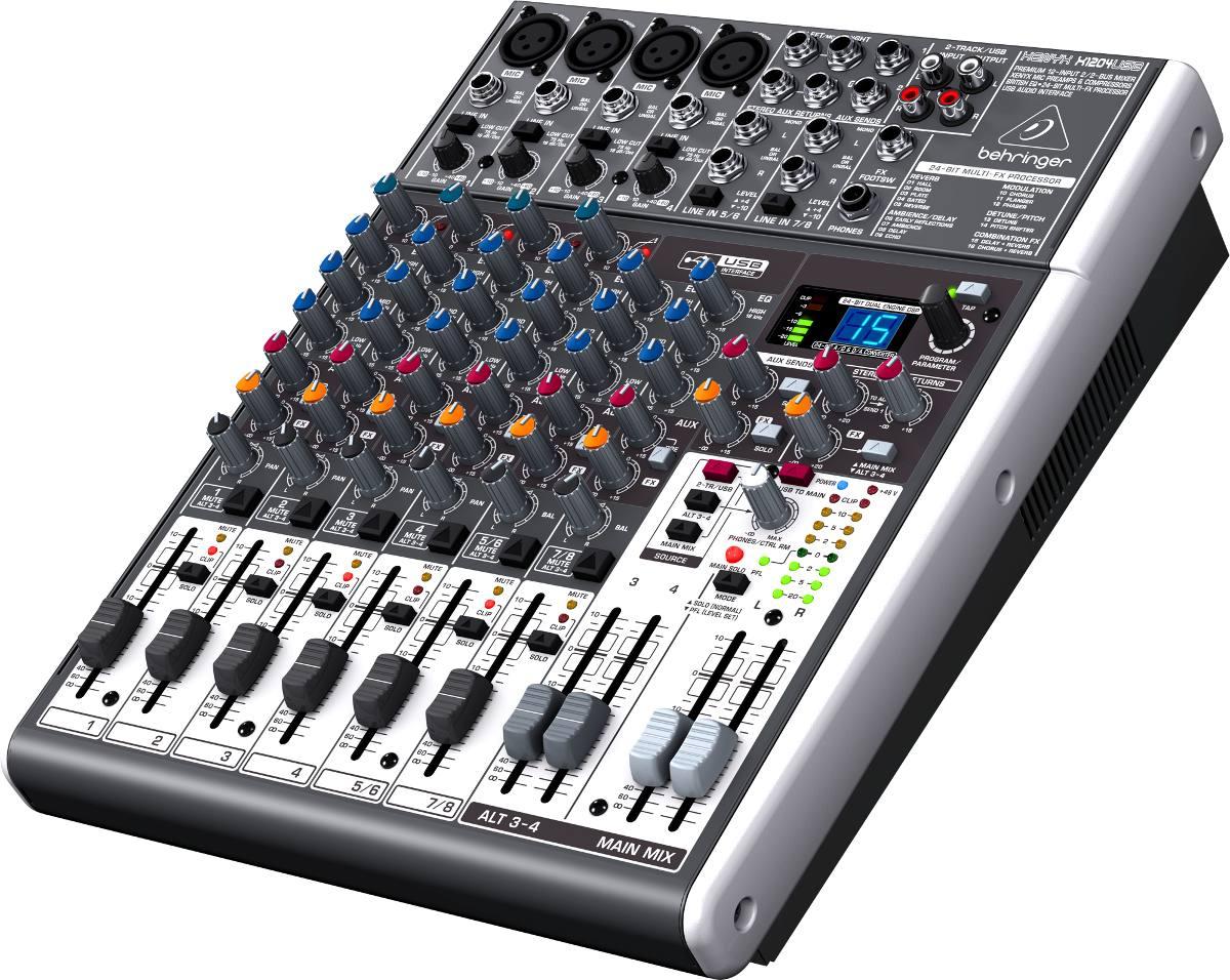 Mesa de som xenyx x1204usb behringer x 1204usb com efeitos for Mesas behringer