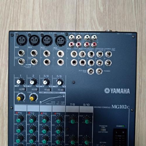 mesa de som yamaha mg102c  6 canais 110volts usada