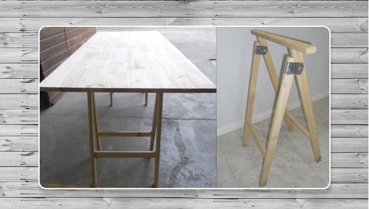 Caballetes mesa mesa con caballetes conjunto caballetes - Mesa con caballetes ...