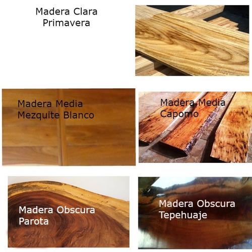 mesa de tablon de madera vintage con base de hierro