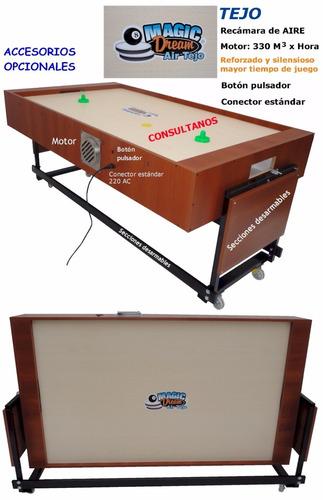 mesa de tejo y pool (2 en 1) magic air fábrica 1pingpong