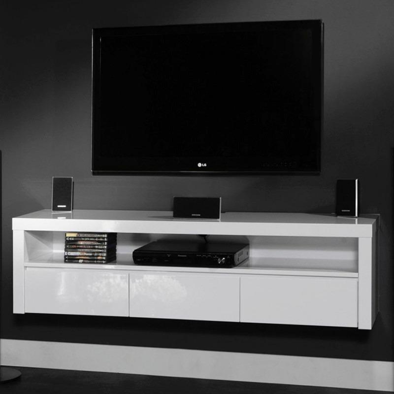Mesa de televisi n moderna flotante ref atyla for Mesas para tv modernas