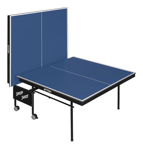 mesa de tenis de mesa com paredão - drop shot