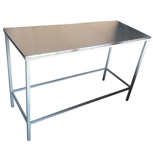 mesa de trabajo acero inox 120x55 cm mesada gastronomica