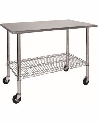 Mesa de trabajo acero inox capacidad 453 kg marca edsal - Mesa de trabajo acero inoxidable ...