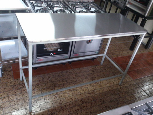 mesa de trabajo acero inoxidable 140x55 cm mesada fabrica