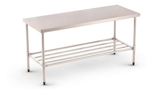 mesa de trabajo acero inoxidable 140x70x90 cm. equiparte.