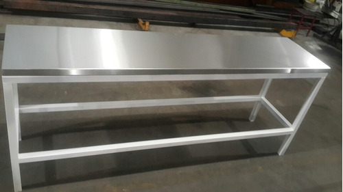 mesa de trabajo acero inoxidable 2220 x 500 x 900 altura