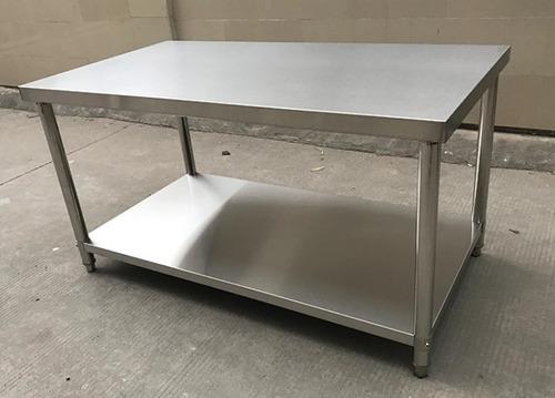 mesa de trabajo acero inoxidable 430 para alimentos