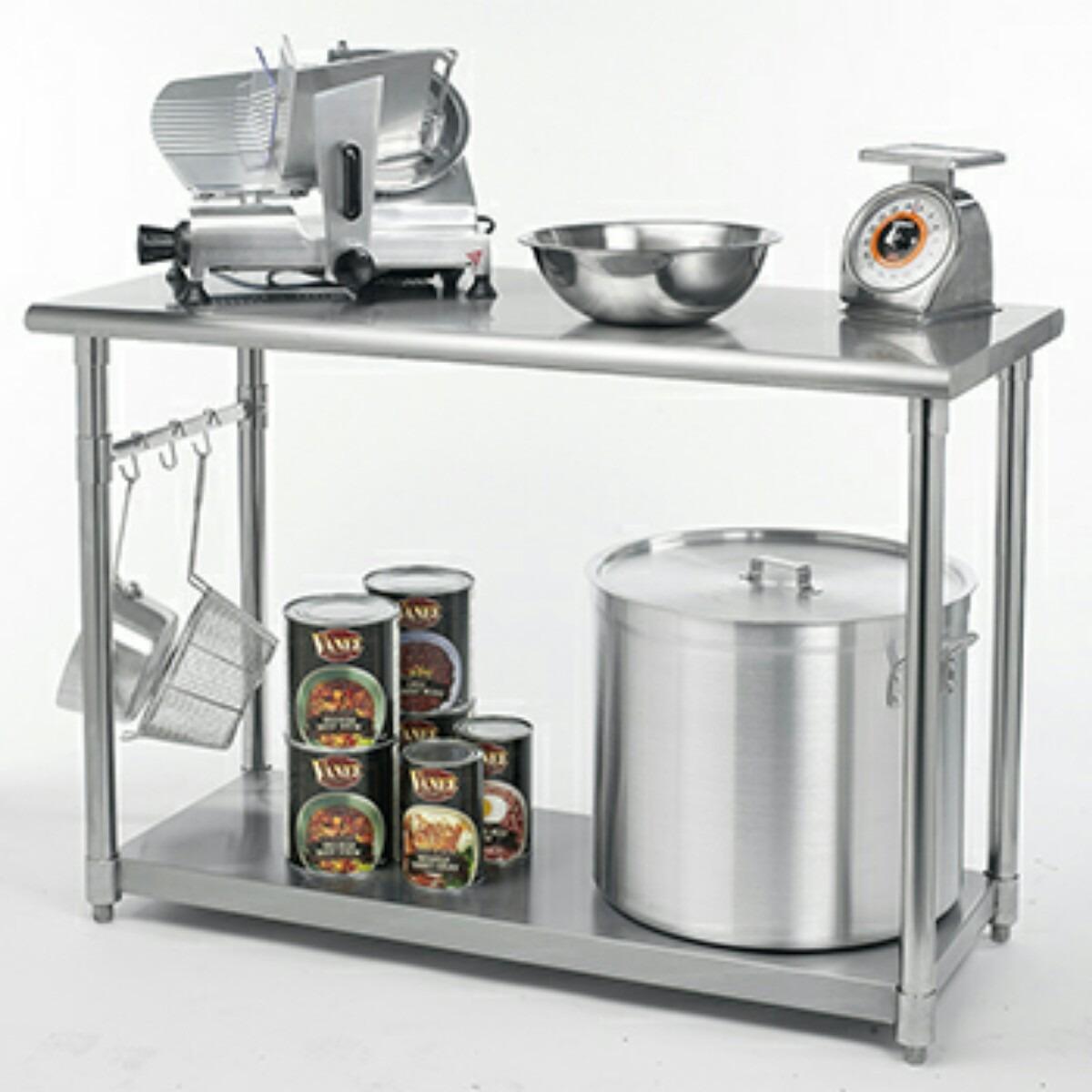 Mesa de trabajo acero inoxidable cocina gastronomia for Mesas de cocina cuadradas