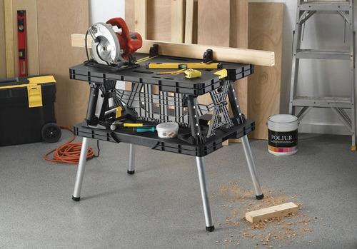 mesa de trabajo compacta plegable negra keter 17182239